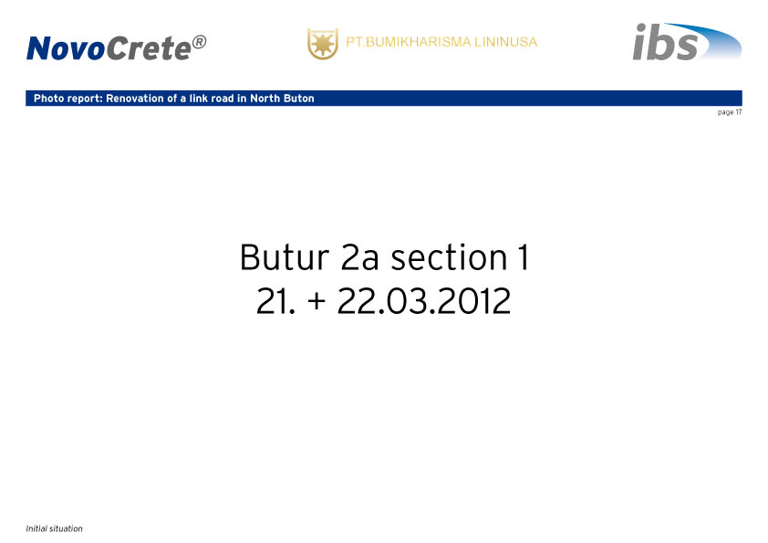 jobsite report ereke, bau2-17